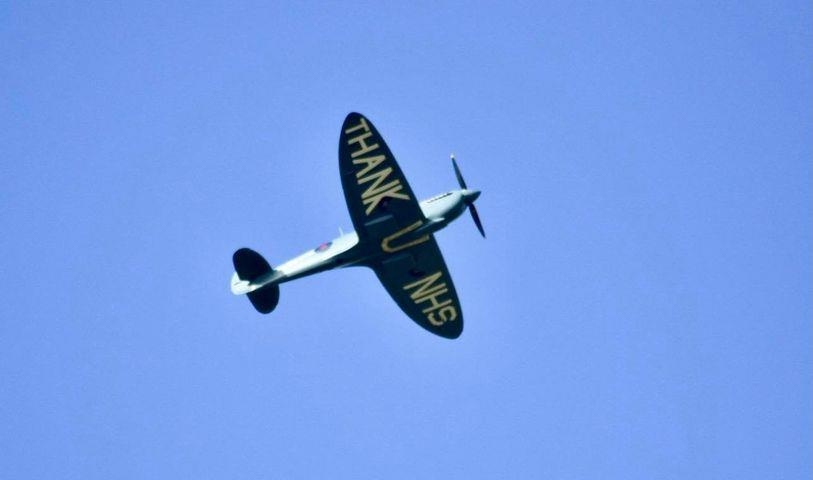The Spitfire over Dunfermline.