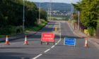 The A909 between Kelty and Cowdenbeath is currently closed due to a road traffic collision