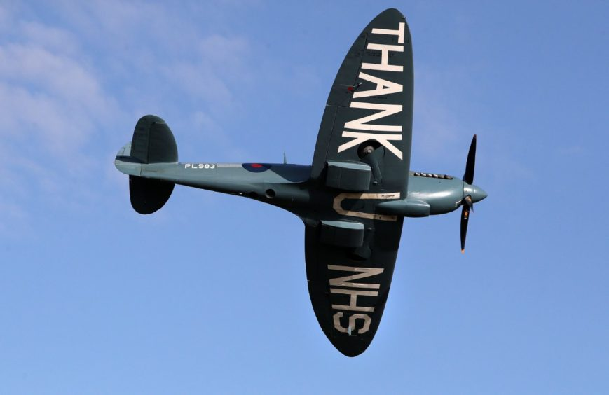 """The """"Thank You NHS"""" Spitfire."""