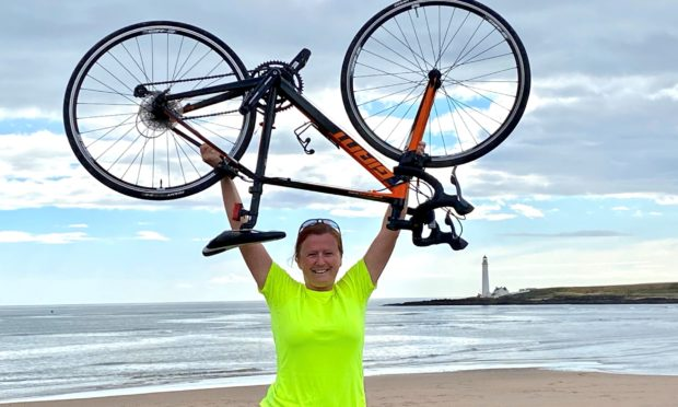 Claire Penman after a training run to Montrose.