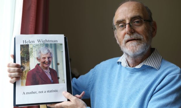 Alan Wightman with a picture of his late mother, Helen.