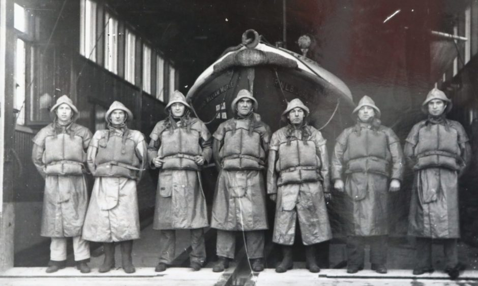 The crew of Arbroath Lifeboat in 1940 is captured in one of the images which have been donated.