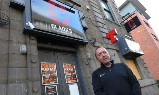 Scott Clark outside Clark's On Lindsay Street in Dundee.