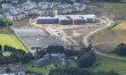 An aerial photograph of the new Madras College, St Andrews, taken by the UK Civil Air Patrol.