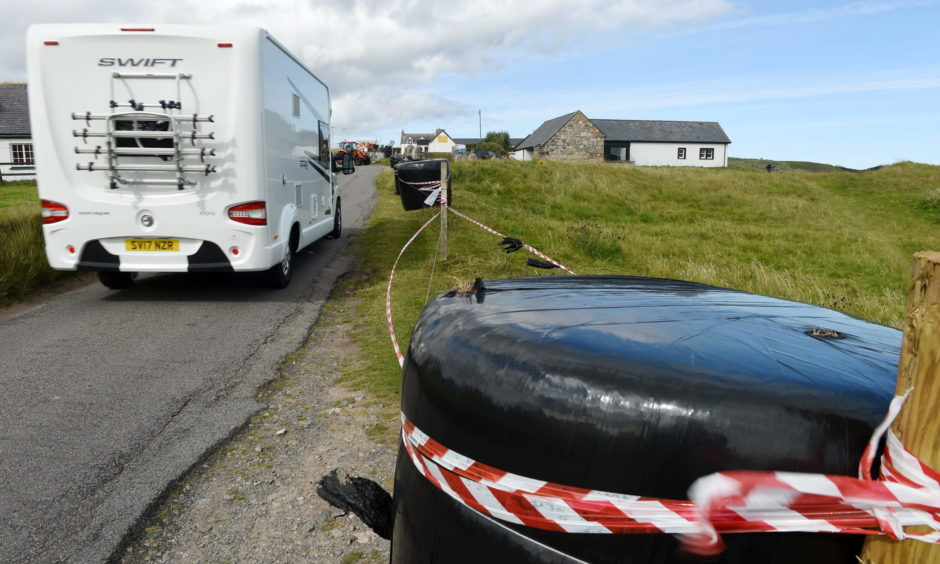 """A Highland area sealed off to prevent """"dirty"""" camping."""