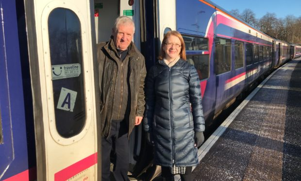 Mr Chapman, with SNP MSP Shirley-Anne Somerville.