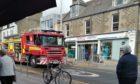A fire engine at Brook Street.