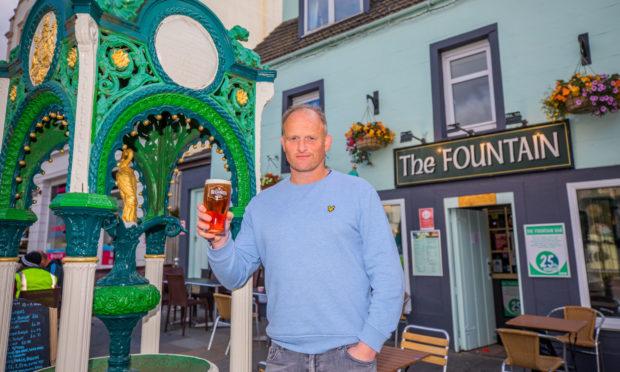 Gavin Price at the Fountain Bar, Aberfeldy