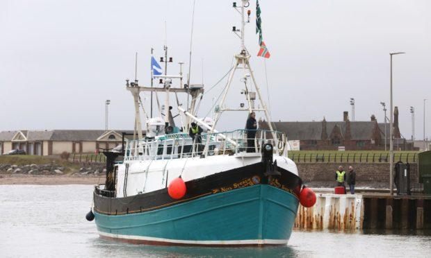The Nova Spero comes into Arbroath Harbour on Monday, September 28.