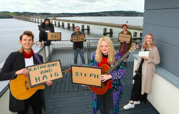 The collective's first session was staged on the rooftop of the One Building in Dundee.