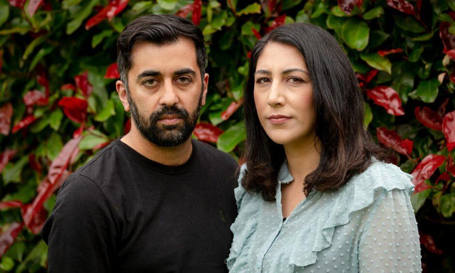 Humza Yousaf and Nadia El-Nakla.