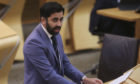 Justice Secretary Humza Yousaf during a debate on the Hate Crime and Public Order bill at the Scottish Parliament.