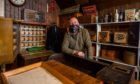Jim Finnie in the post office at Blair Atholl Country Life Museum