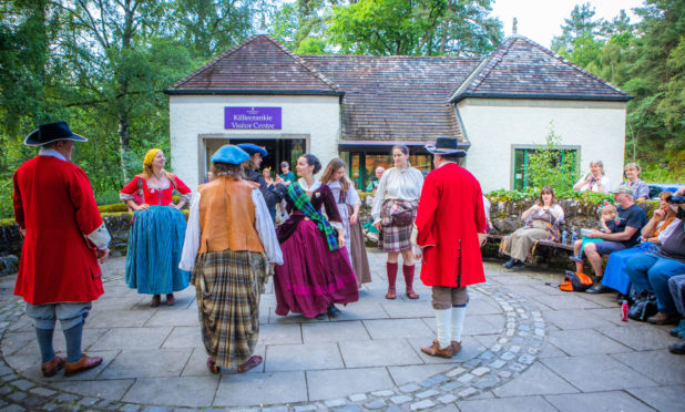 A ceremony to mark the 330th anniversary of the battle of Killiecrankie, held at the visitor centre in 2019