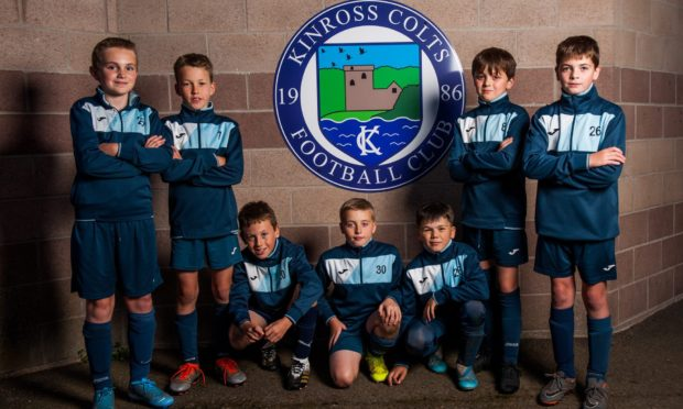 Some of the Kinross Colts juniors (11yo), Gregor McGilp, Gregor Fenton, Oliver Queen, Rory Drysedale, Jack Wells, Ruaridh O'Kane and Rhys Porter