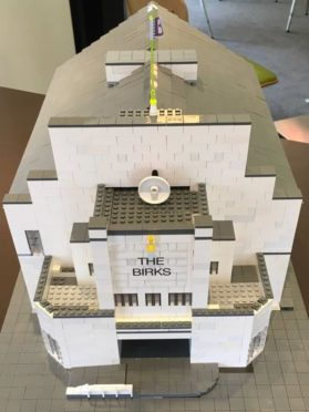 A lego build of The Birks Cinema put together by youngsters involved in the project.