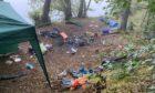 Abandoned campsite at Loch Tummel