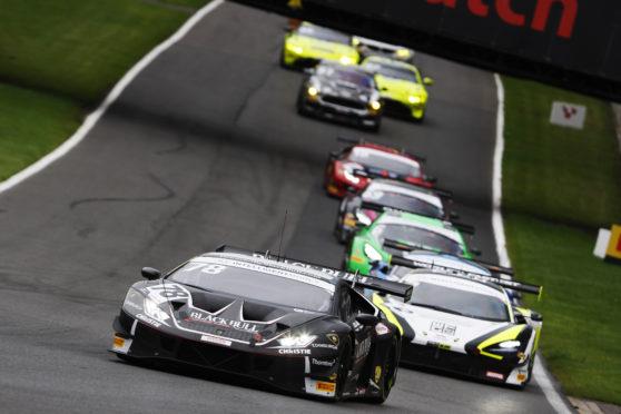 The Black Bull Lamborghini led the field at Brands Hatch.