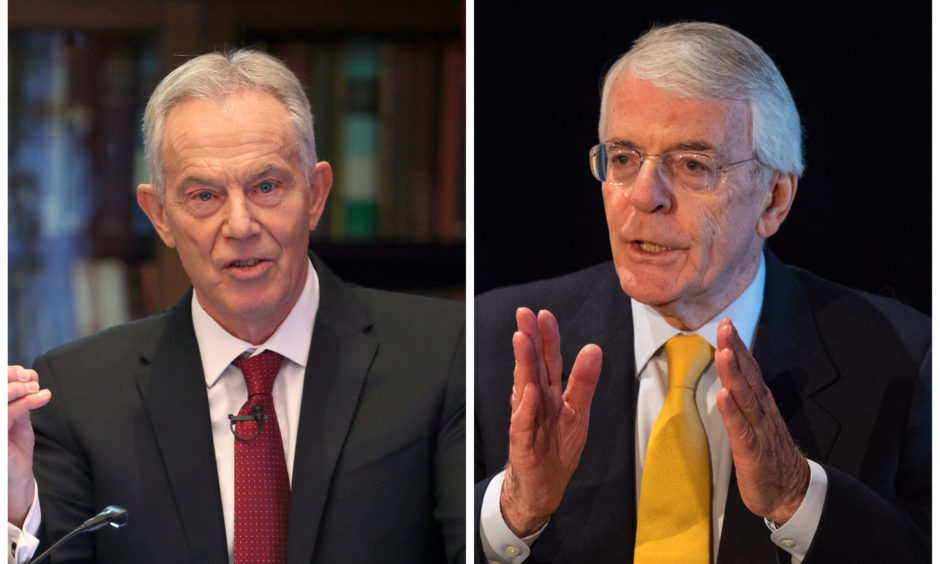 Tony Blair and Sir John Major.