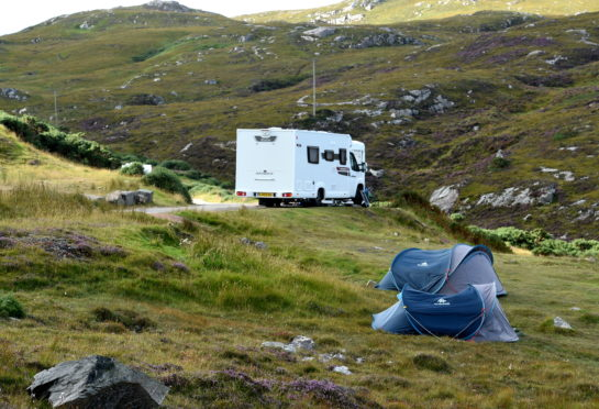 """Mark Ruskell MSP has called on greater action on """"dirty campers""""."""
