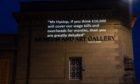 Quotes from a letter to the Scottish Government demanding arts support were projected onto Perth Museum and Art Gallery and the Perth Concert Hall by an anonymous campaign group.