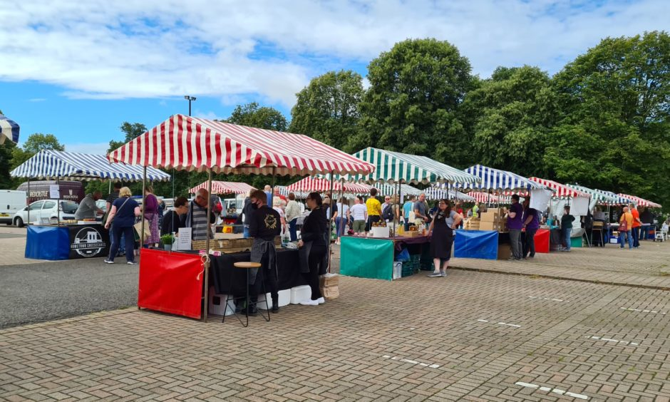 Perth Farmers' Market is now at the South Inch.