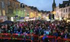 Hundreds of people typically turn out for the Christmas lights switch-on event.