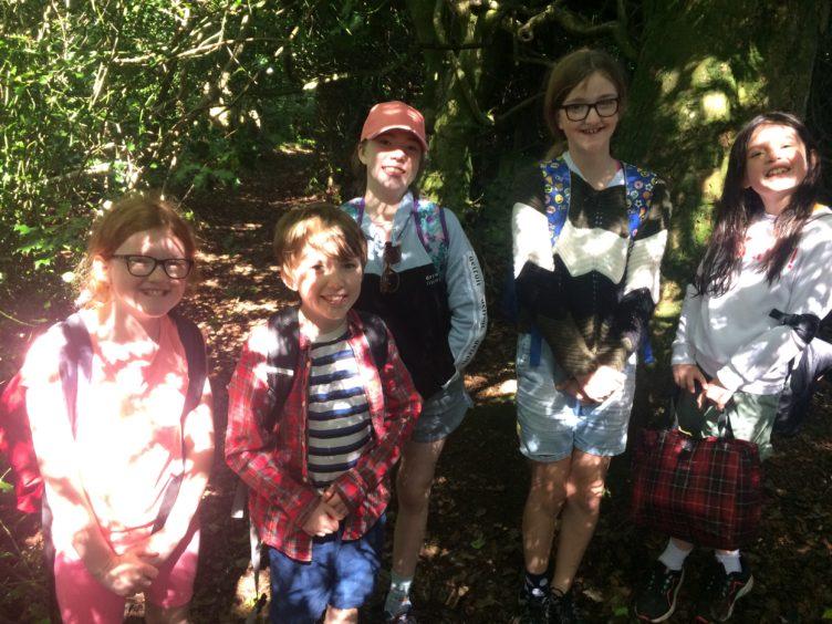 Emma Cromar (9), Arthur Franks (9), Amaya Franks (11), Jessica Cromar (11) and Brooke Hays (9).