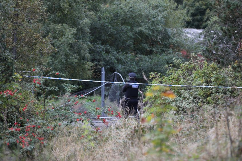 Human remains were found at the Whitehill Industrial Estate shortly after 5pm on Sunday, September 27 2020.