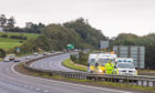 A stretch of the A92 westbound was closed for 15 hours after the accident on the A92.
