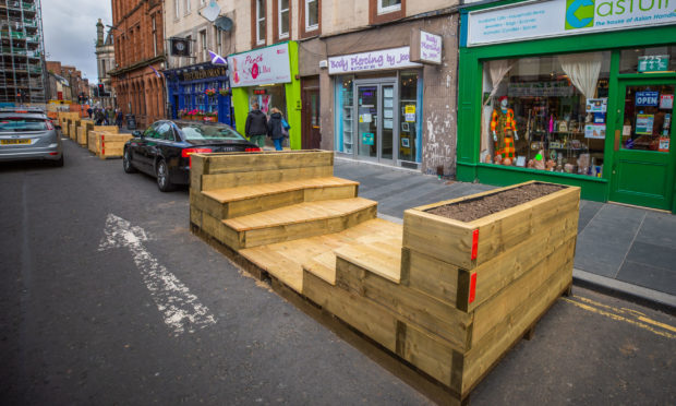 Traders are concerned the controversial parklets plan could be expanded.
