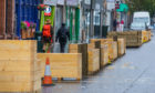 Infrastructure on Perth High Street was likened to 'Tattie Boxes'. Picture: Steve MacDougall.