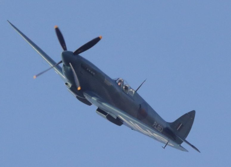 Another photo by JIm Donald of the NHS Spitfire in Dundee.