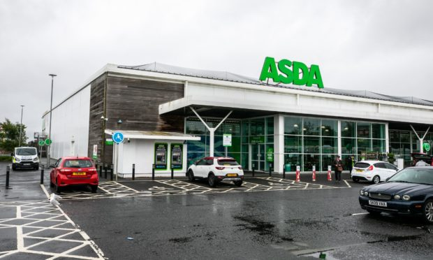 The Asda in Glenrothes on the morning of the incident.