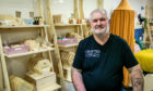 Don Tait of Crafted Pine Co inside the premises in the Overgate Shopping Centre, Dundee.