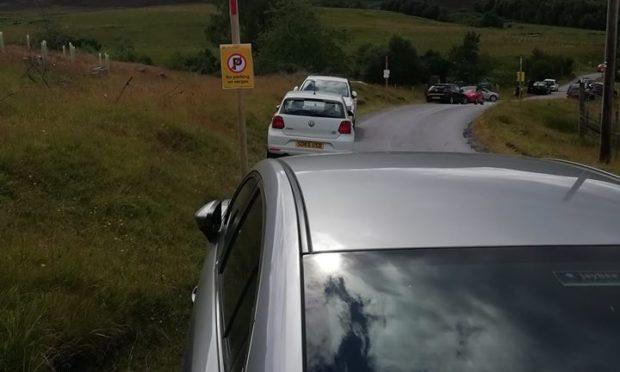 The road to Schiehallion has been bottlenecked most weekends this summer.