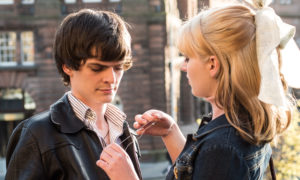 A romantic scene from Schemers with Conor Berry and Tara Lee, who plays Shona the nurse.