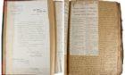 Professor Thomson's wartime scrapbook.
