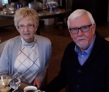 Stewart and Rhona Boyle form Glasgow were holidaying in Fife.