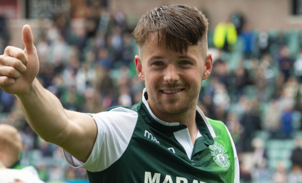 Marc McNulty during his time at Hibs.