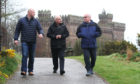 Councillor Derek Wann, Mr George Park and Councillor David Fairweather previously discussed work on the Keptie water tower.