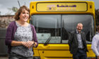 Tayside Council on Alcohol's chief executive Kathryn Baker at the SafeZone bus.