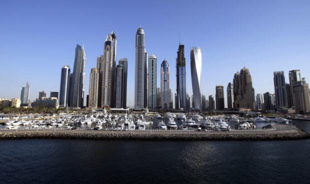 Skyscrapers at the Dubai Marina