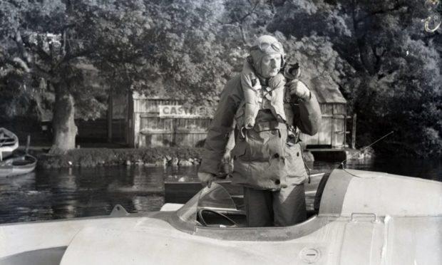 John Cobb at Loch Ness.