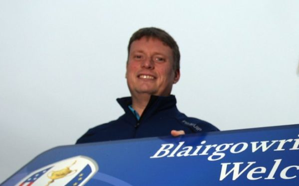 Stuart Wilson pictured at the 2014 Junior Ryder Cup.