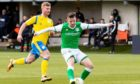 Marc McNulty in action for Hibs against BSC Glasgow last season.