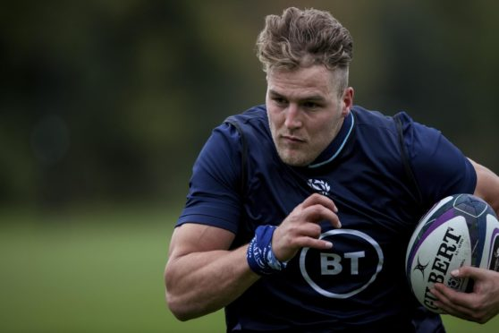 Duhan van der Merwe will make his Scotland debut on Friday against Georgia.