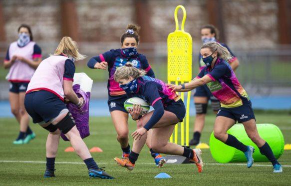Scotland Women in training in Glasgow last week.