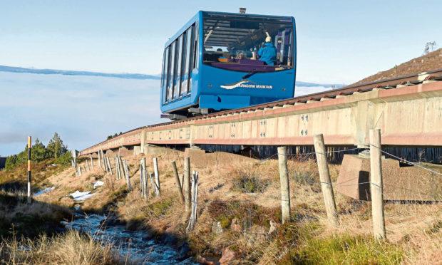 The Cairngorm Funicular Railway.