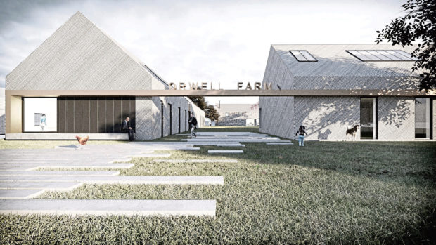 To go with story by Jim Millar. The Marloe Watch Company is set to move into a new creative business hub in Kinross. It will be joined by Studio LBA an architect firm. Picture shows; Orwell Farm. 0. Courtesy 0 Date; Unknown